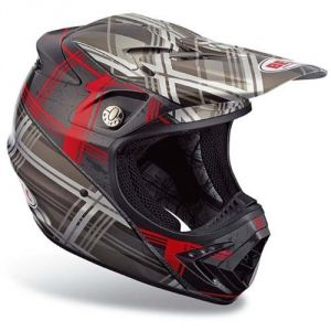 Bell Moto-8 Plaid Black-Red  (2017816-S) ― Motocross.UA
